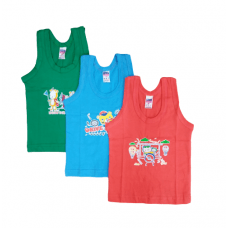 First Touch boys vest multicolour - pack of 3