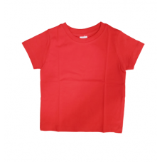 Ollypop Half Sleeves T-shirt  Plain - 1365A Red