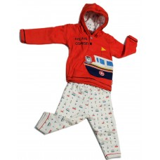 Boys suit full sleeves Hooded Orange Ollypop