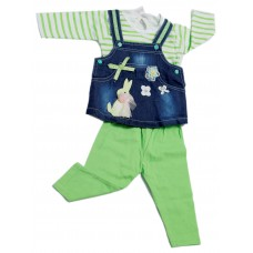 Baby's Day girls set with galish Green