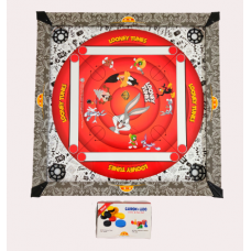 IMPORT Kids Carrom Board Set Including  Striker and Coins Looney tunes Print (50cm x 50cm)