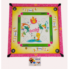 IMPORT Kids Carrom Board Set Including  Striker and Coins  Tweety Print (66cm x 66cm)