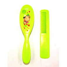 Imported Baby Comb and Brush Set -Green