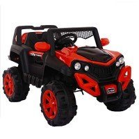 I.JOYS Rechargeable Battery Operated Ride on jeep(Red)