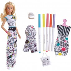 Barbie Doll Coloue in fashions (Free Barbie Backpack)