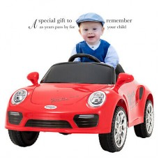 I.JOYS Rechargeable Battery Operated Ride on CAR(Red)