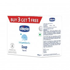 Chicco Baby Moments Soap Pack Of 4 - 125 gm