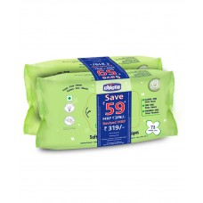 Chicco Soft Cleansing Wipes - pack of 2