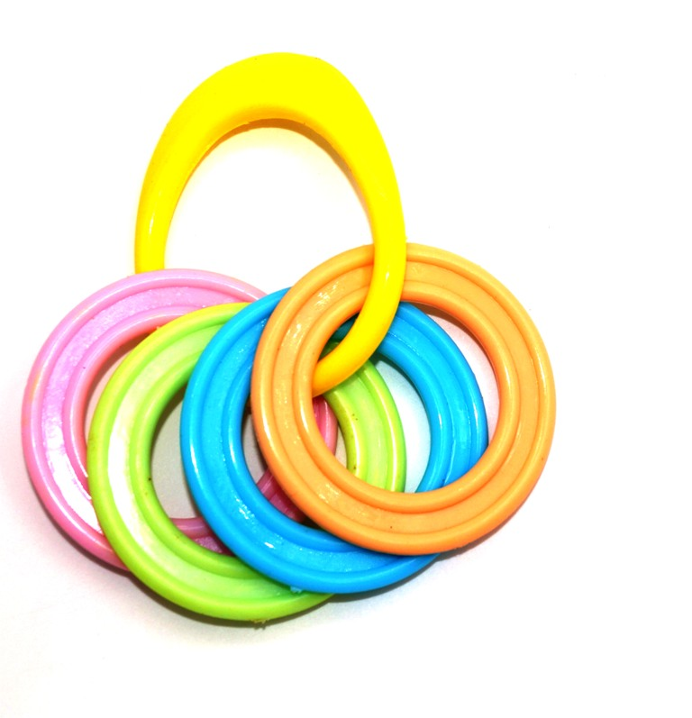 Gum Soother Teether Baby Rattle(multicolur)