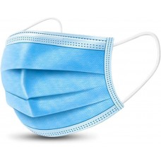 Disposable 3 Ply Surgical Face Mask (Blue) -100 Pieces