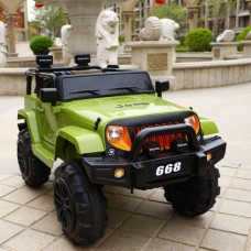 I.JOYS Rechargeable Battery Operated Ride on jeep(Green)