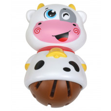 LuvLap Cow Shaped Rattle - White Brown