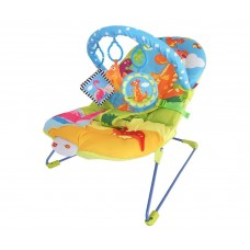 LuvLap Little Dino Baby Bouncer with Soothing Vibration and Music (KC)