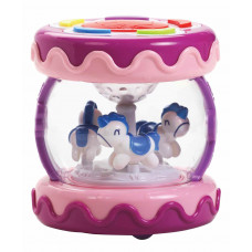 LuvLap Musical Touch Drum with Galloping Horses - Multicolor