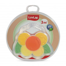 LuvLap Silicone Teether, Happy Yellow, 3m+, BPA