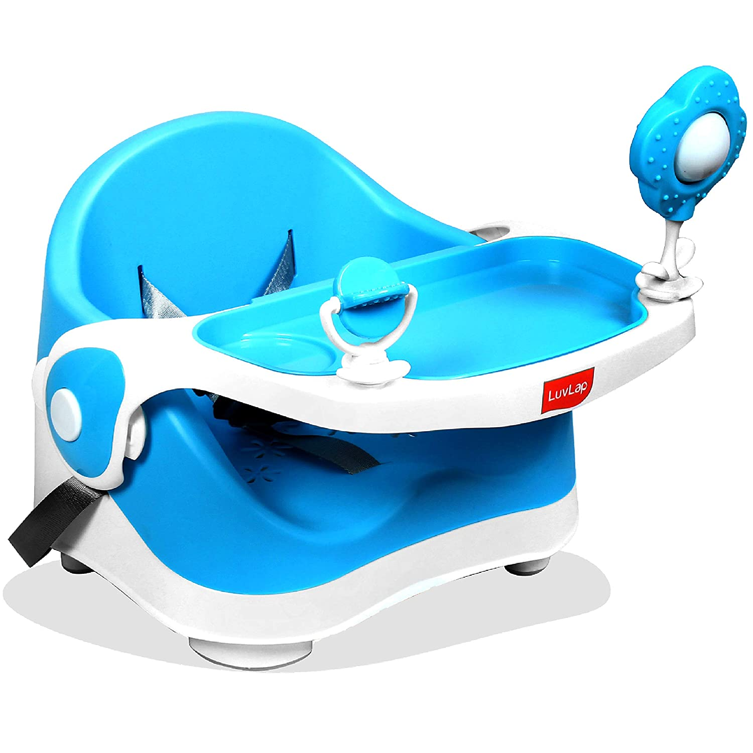 LuvLap Springdale 2 in 1 Feeding Chair & Booster Seat, Portable (Blue)