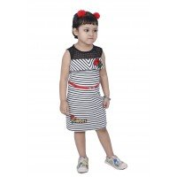Maps Girls party wear midies frock(off white)