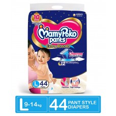 MamyPoko Extra Absorb Pant Style Diapers Large - 44 Pieces