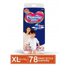 MamyPoko Extra Absorb Pant Style Diapers Extra Large Size - 78 Pieces
