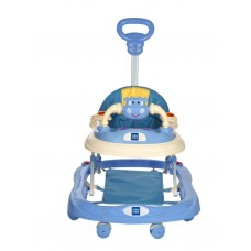 Mee Mee Baby Walker with Adjustable Height and Push Handle Bar (Blue)MMW3012