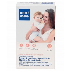 Mee Mee Ultra Thin Super Absorbent Disposable Nursing Breast Pads - 24 Pieces