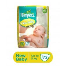 Pampers New Baby Diapers New Born - 72 Pieces