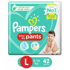Pampers Pant Style Diapers Large - 42 Pieces