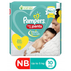 Pampers Pant Style Diapers Extra Small Size - 10 Pieces