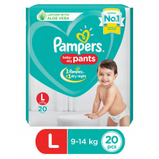Pampers Pant Style Diapers Large - 20 Pieces