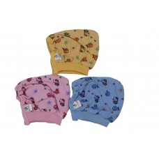 Tinycare Baby Hosiery Colors Print Cap (Multicolor) -Pack of 3  (0 To 3 Month)