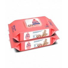 Johnson's baby Skincare Wipes Pack Of 2 - 160 Pieces
